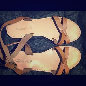 Madewell Boardwalk Sandals Sz 7